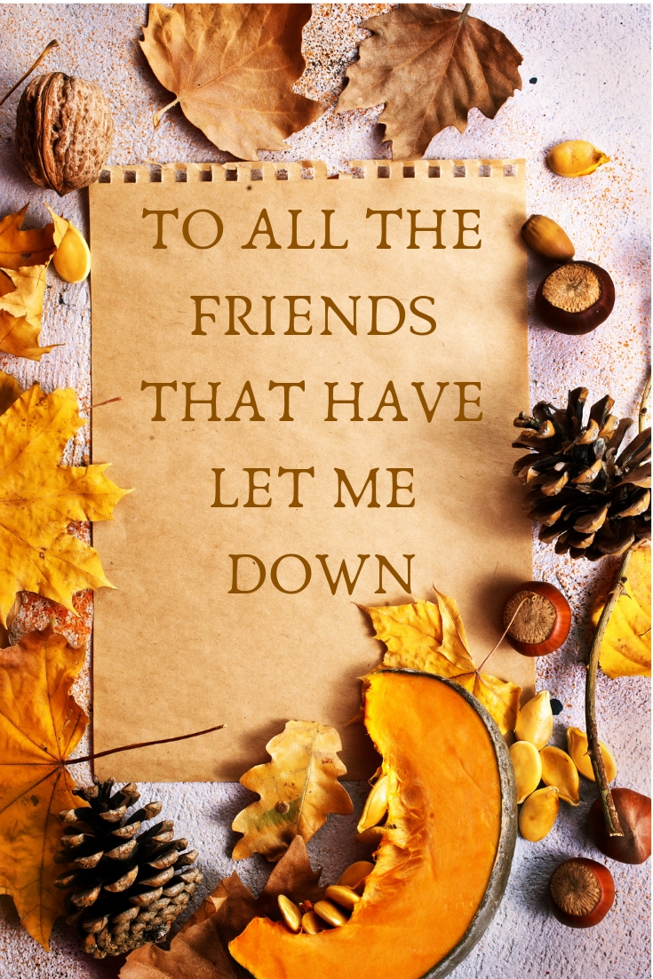 To All The Friends That Have Let Me Down